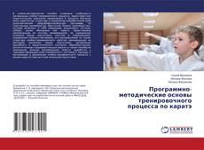 Bookcover of Программно-методические основы тренировочного процесса по каратэ
