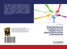 Обложка Формирование толерантности подростков в образовательном учреждении