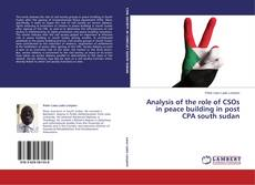 Bookcover of Analysis of the role of CSOs in peace building in post CPA south sudan