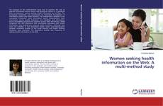 Capa do livro de Women seeking health information on the Web: A multi-method study