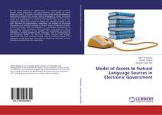 Buchcover von Model of Access to Natural Language Sources in Electronic Government