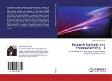 Couverture de Research Methods and Proposal Writing - 1