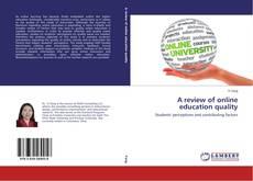 Capa do livro de A review of online education quality