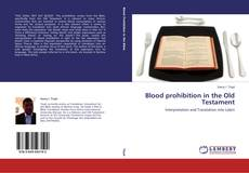 Bookcover of Blood prohibition in the Old Testament
