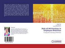 Bookcover of Role of HR Practices in Employee Retention