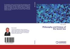 Bookcover of Philosophy and history of the Soviet law