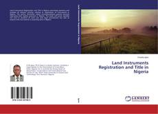 Capa do livro de Land Instruments Registration and Title in Nigeria