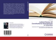 Обложка Judicial Review Of Constitutional Amendments in Colombia