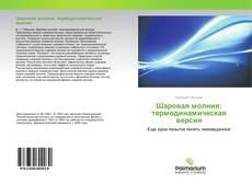 Bookcover of Шаровая молния: термодинамическая версия