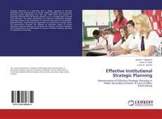 Buchcover von Effective Institutional Strategic Planning