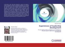 Bookcover of Experiences of leadership development