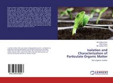 Обложка Isolation and Characterisation of Particulate Organic Matter