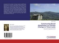 Bookcover of Community-Based Adaptation to Climate Change in Timor-Leste