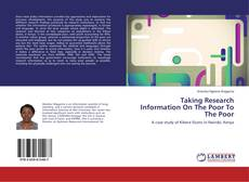 Couverture de Taking Research Information On The Poor To The Poor