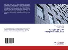 Bookcover of Analysis of CFRP strengthened RC slab