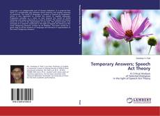 Capa do livro de Temporary Answers; Speech Act Theory