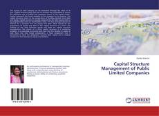 Capital Structure Management of Public Limited Companies kitap kapağı