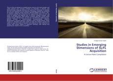Portada del libro de Studies in Emerging Dimensions of SL/FL Acquisition
