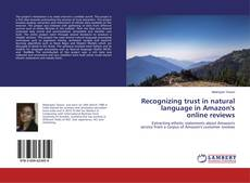 Couverture de Recognizing trust in natural language in Amazon's online reviews