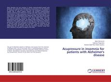 Bookcover of Acupressure in insomnia for patients with Alzheimer's disease