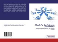 Portada del libro de Mobile Ad Hoc Networks Performance
