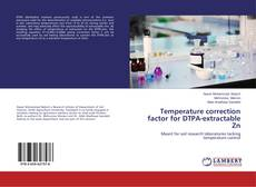Bookcover of Temperature correction factor for DTPA-extractable Zn