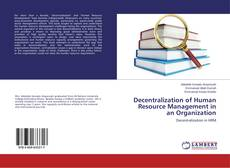Decentralization of Human Resource Management in an Organization的封面