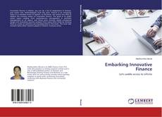Buchcover von Embarking Innovative Finance