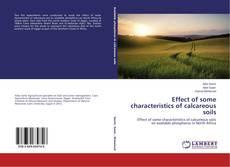 Effect of some characteristics of calcareous soils kitap kapağı