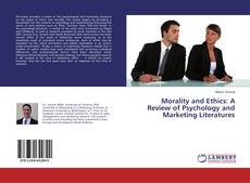 Capa do livro de Morality and Ethics: A Review of Psychology and Marketing Literatures