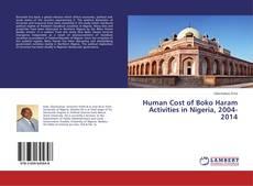 Couverture de Human Cost of Boko Haram Activities in Nigeria, 2004-2014