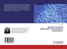 Capa do livro de Specific Learning Difficulties: Psychological Implications