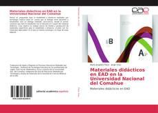 Capa do livro de Materiales didácticos en EAD en la Universidad Nacional del Comahue
