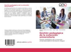 Bookcover of Gestión pedagógica de la extensión universitaria
