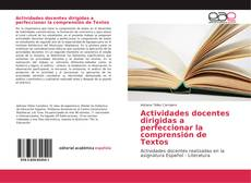 Borítókép a  Actividades docentes dirigidas a perfeccionar la comprensión de Textos - hoz