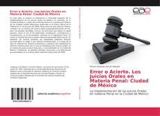 Borítókép a  Error o Acierto. Los Juicios Orales en Materia Penal: Ciudad de México - hoz