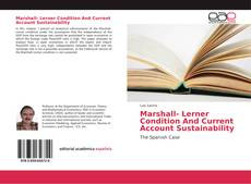 Copertina di Marshall- Lerner Condition And Current Account Sustainability