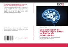 Bookcover of Caracterización del lenguaje según el test de Boston en universitarios
