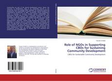Bookcover of Role of NGOs in Supporting CBOs for Sustaining Community Development