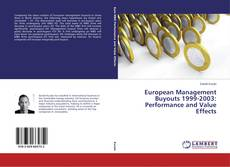 Couverture de European Management Buyouts 1999-2003: Performance and Value Effects