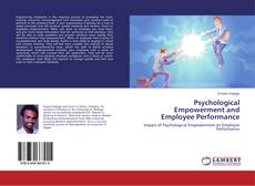 Buchcover von Psychological Empowerment and Employee Performance
