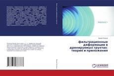 фильтрационные деформации в дренируемых грунтах: теория и приложения kitap kapağı