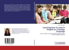 Bookcover of Learning how to read in English as a foreign language