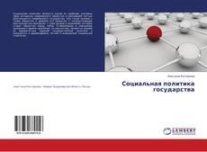 Buchcover von Социальная политика государства