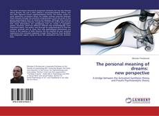 Couverture de The personal meaning of dreams: new perspective