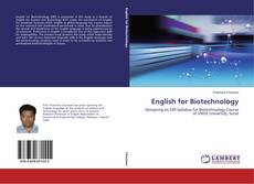 Bookcover of English for Biotechnology