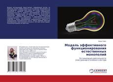 Bookcover of Модель эффективного функционирования естественных монополий