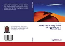 Buchcover von Quality service and public service reforms in Mozambique