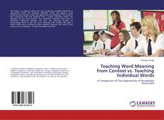 Buchcover von Teaching Word Meaning from Context vs. Teaching Individual Words