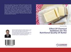 Bookcover of Effect Of Chemical Stabilizers On The Nutritional Quality Of Butter